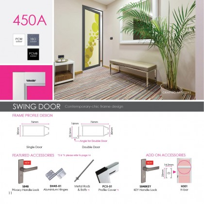 【PRE ORDER ONLY】 VITALLY SWING DOOR 450A **WITHIN KLANG VALLEY ONLY**